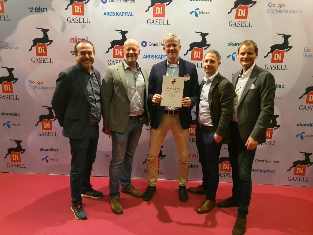 Otto Nilsson Byggnads på Dagens Industris prisgala 25 november 2019. Otto Nilsson Byggnads AB blev gasellföretag för sjätte året i rad.