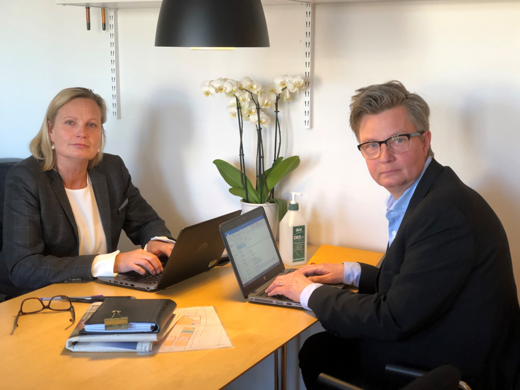 Näringslivsstrateg Cecilia Wennersten och näringslivschef Lars Persson.
