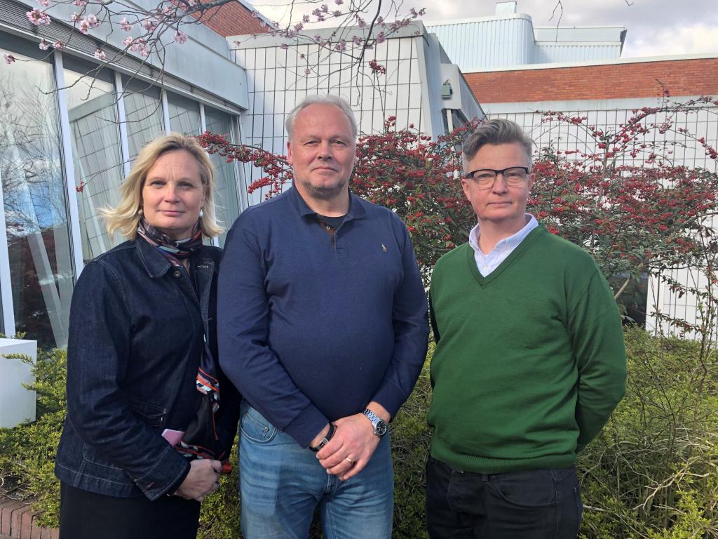 Cecilia Wennersten, näringslivsstrateg Eslövs kommun, Sune Lundberg, rådgivare Nyföretagarcentrum och Lars Persson, näringslivschef Eslövs kommun.