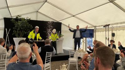 Första steget mot stora miljövinster när ny ångledning mellan sockerbruket och kraftvärmeverket i Örtofta börjar byggas