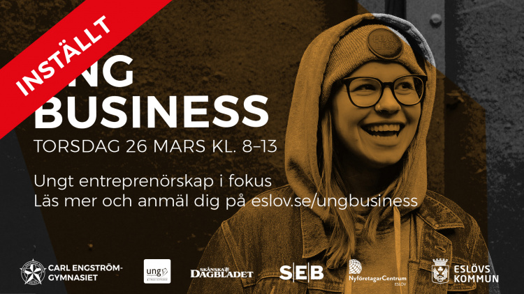 INSTÄLLT! Ung business – 26 mars